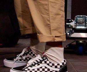 fashion, vans, and checkered vans image