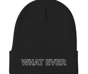 what ever knit beanie image