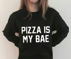 chicas, pizza, and tumblr image