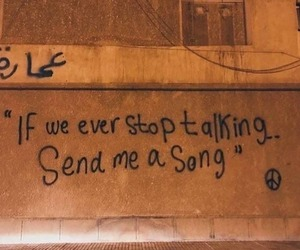 song, quotes, and wall image