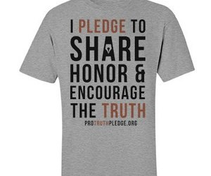 shirt, online shopping store, and pro-truth pledge image