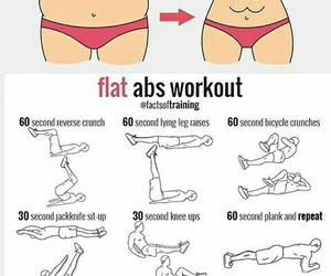 abs, workout, and body image