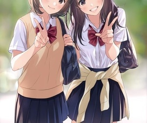 anime, friends, and anime girl image