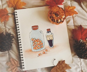 autumn, candy corn, and drawing image