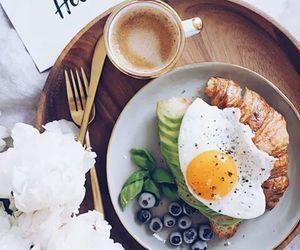 berries, breakfast, and coffee image