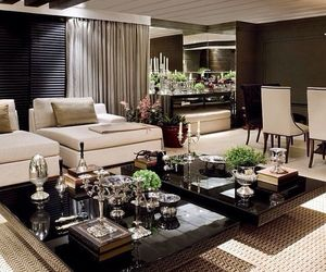 interior decorating, interior design, and modern livingroom image