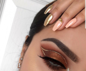 makeup, eyeshadow, and nails image