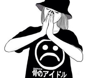 girl, black, and sad image