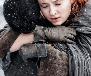 jon snow, sansa stark, and game of thrones image