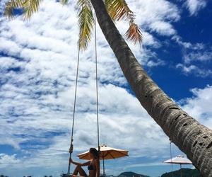 beach, palmtree, and Sunny image