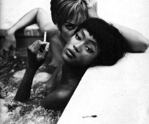 b&w, Christy Turlington, and Naomi Campbell image