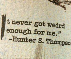 hunter s thompson and weird image