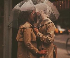 couple, rain, and umbrella image