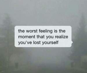 lost, sad, and quotes image