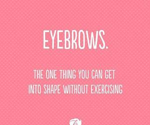 exercise, make up, and eyebrows image