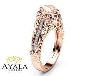 engagement ring, filigree ring, and ayala jewelry image