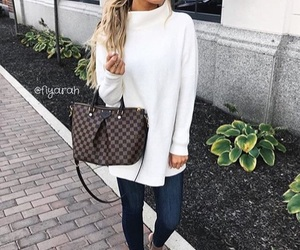 bag, clothes, and Louis Vuitton image