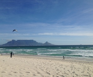 beach, tablemountain, and southafrica image