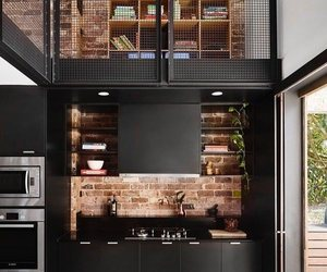 interior decorating, small kitchen, and modern kitchen image