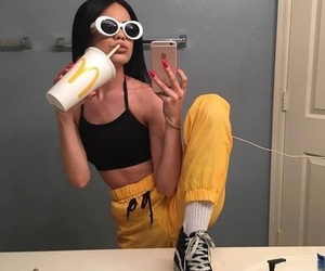 90s, yellow, and aesthetic image