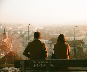 tumblr, couple, and city image