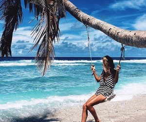 beach, sunshine, and wanderlust image
