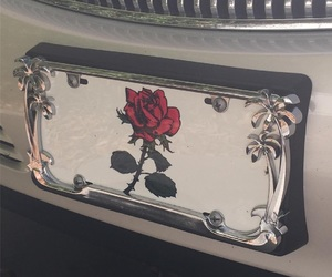 rose, car, and aesthetic image