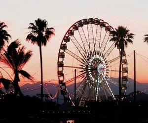 sunset, coachella, and summer image