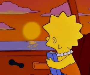 lisa, the simpsons, and books image