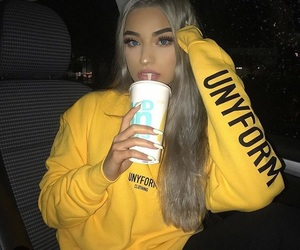 girl, goals, and yellow image