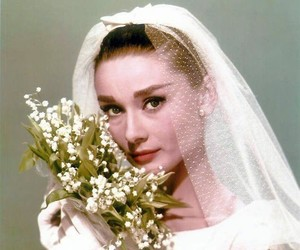 audrey hepburn, beauty, and wedding image