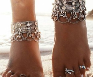 accessories, boho, and feet image