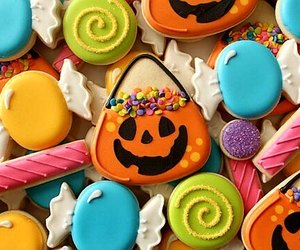 food, candy, and Halloween image