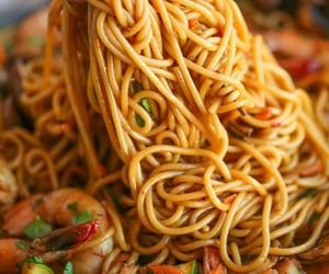 food, noodles, and shrimp image