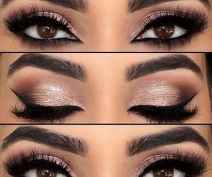 brown eyes, eyes, and make up image