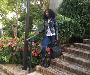 black girl, fashion, and school outfit image