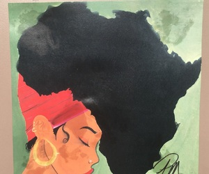 africa and painting image