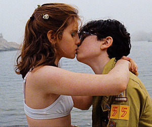 kiss, moonrise kingdom, and movie image