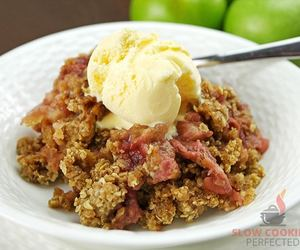 apple, crumble, and dessert image