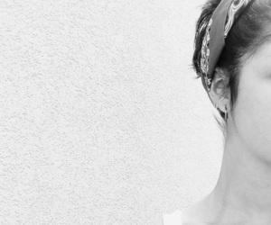 bandana, beautiful, and bianco e nero image