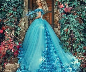 blue, princess, and cinderella image