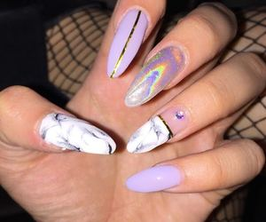 diamond, lilac, and marble image