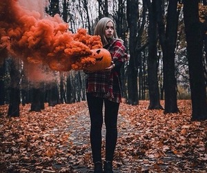 autumn, girl, and Halloween image