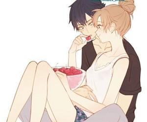 anime, couple, and toradora image