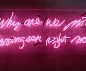 aesthetics, pink, and neon lights image
