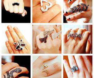 mustache and rings image