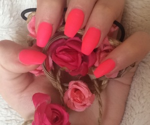 color, neon nails, and simple nails image