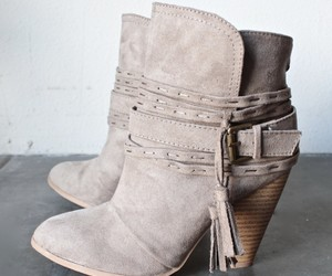bootie, elegant, and suede image