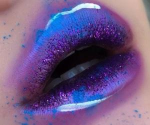 lips, purple, and glitter image