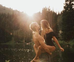 boyfriend, couple, and sun image